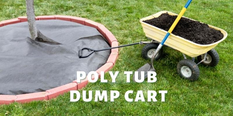 poly tub dump cart